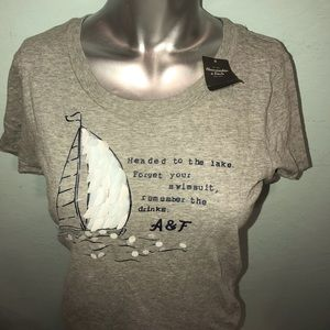 Abercrombie & Fitch Tops - A&F Adorable front detailed tee